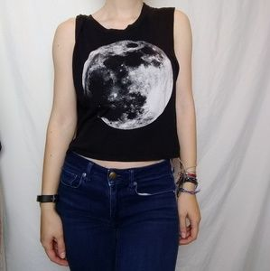 Cropped Moon Tank Top